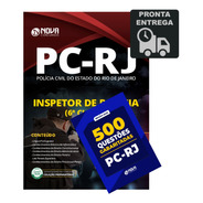 Apostila  Inspetor Polícia 6ª Cl Pc-rj + 500 Questões Livro