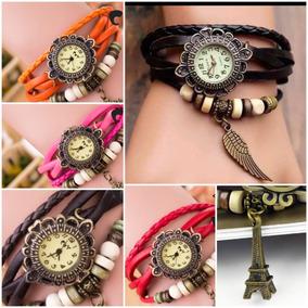 Lote 10 Relojes Mujer Piel Ala Torre Iffel Vintage Cuarzo