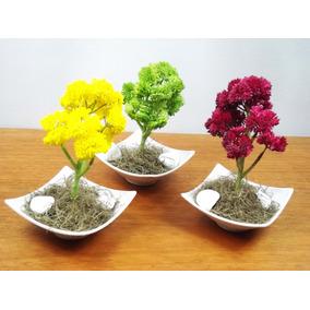 1 Bonsai P Colorido Mini Árvores Artificial Arranjos Bonitos