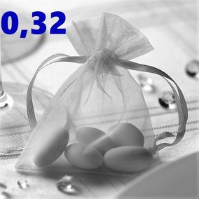 Saquinhos De Organza 7x9 Cm / Kit 50 Saquinhos Lembrancinhas