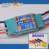Esc Speed Control Hk 50a C/ Bec P/ Avião + Brinde