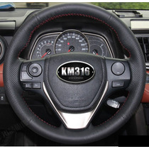 Funda Piel Volante A Medida Toyota Rav4 Corolla Hilo Rojo