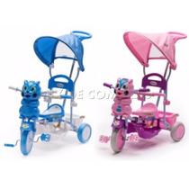Triciclo Gato Alvin C/capota Rainbow