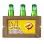 Engradado Cerveja Skol Amarelo - 6 Garrafas - Em Madeira