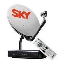 Kit De Antena Parabólica Sky + Receptor Digital Sky Pré Pago
