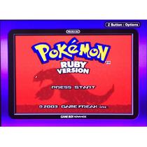 Jogo Pokemon Ruby Gba