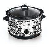 Olla De Barro Scr450-pt 4-1 / 2-quart Slow Cooker, Negro Pa