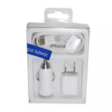 Cargador 3 En 1 Apple Iphone / Ipad / Ipod 30 Pin