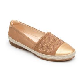 Zapato Alpargata Flexi Dama 44801 Taupe Tan Confort Casual