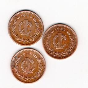 Moneda Antigua México Centavo 1945 O 1947 Con Brillo