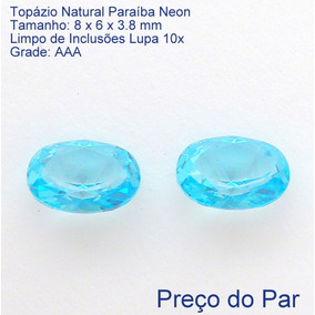 Topázio Natural Paraíba Pedra Preciosa Preço Par 7275