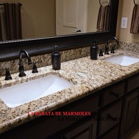lavabo cubierta en marmol y granito