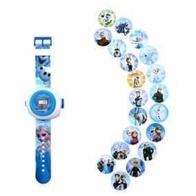 Envio Gratis Reloj Frozen Niña Con Proyector 20 Imagenes