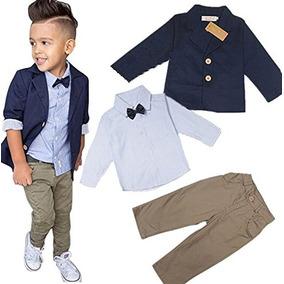 El Caballero De Los Muchachos De Los Bebés Fija La Camisa D