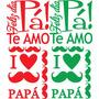 Dia Del Padre Vinilo Vidriera Decoración Stickers Locales
