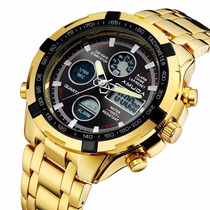 Relógio Masculino Banhado Ouro 18k Tipo Invicta Frete Grátis