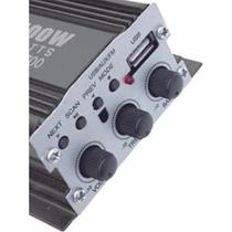 Amplificador Moto Auto 500 W P.m.p.o Usb Fm Control Remoto