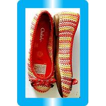Nuevos Zapatos Chabely Balerina Tejido Modelo Nuevo Dkz