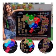 Mapa Do Brasil De Raspar Unlocked Com Moldura