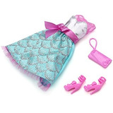 Juguete Barbie Doll Trajes 2013 Púrpura Volante Vestido Del
