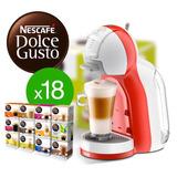 Cafetera Dolce Gusto Mini Me + 18 Cajas De Capsulas Surtidas