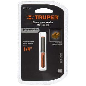 Broca Para Router Truper 1/4 Brou-r2-1/4m