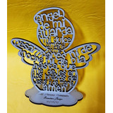 Angel De Mi Guarda 14 Cm Souvenir Comunión Todo Madera