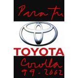 Filtro Aire Motor Toyota Corolla 1999-2002 Martin Original