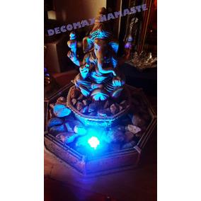 Bellísima Fuente De Ganesha Con Bomba Y Luz