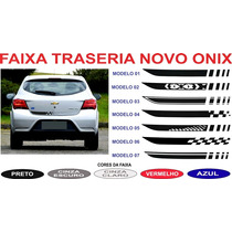 Acessorios Adesivo Traseira Novo Onix Prisma 2016 2017 Gm