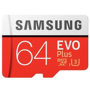 Cartão Samsung Micro Sd Evo Plus 64gb 100mb/s Uhs-3 U3 4k