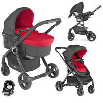 Cochecito Chicco Urban Duo Plus Coche Moises + Butaca + Base