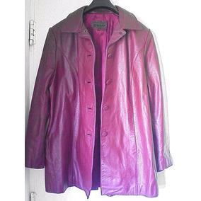 Campera Cuero Blazer Saco Chaqueta Mujer 100% Bordo Xl 52