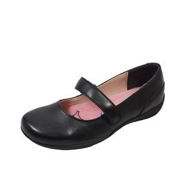 Zapato Escolar Flat Flexi 8-25227 Niña Negro Rudos