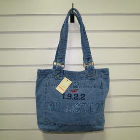 Bolsa Hollister Feminina Escolar Sacola Modelos Azul Escuro