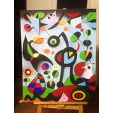 Cuadros Pintados A Mano Replicas The Garden Joan Miro