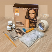 Mega Hair Fita Adesiva Curso Confecçao + Dvd + Kit Produtos