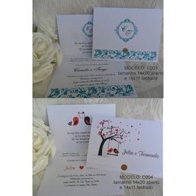 Lindo Convite De Casamento Barato (100un) Frete Grátis