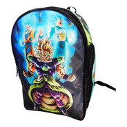 Mochila Dragon Ball Super Broly Goku Vegeta Sayayin Dios God