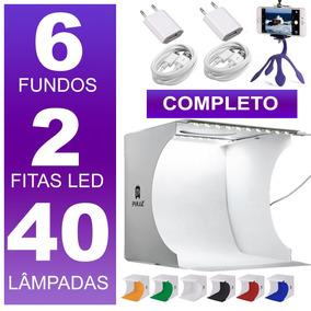 Photo Box Mini Studio Com 6 Fundos Fotograficos