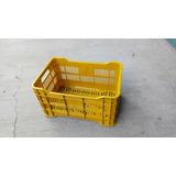 Canasta Plastica Calada Amarilla (22lbs De Verduras)