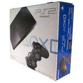 Playstation 2 Slim Ps2 Na Cx. Scph 90001 Desbloq. Fr. Grátis