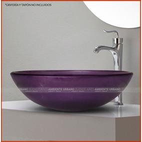 Bacha De Vidrio Templado Violeta Oscuro 42cm Au7032