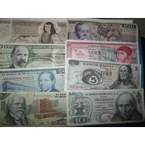 Coleccion 8 Billetes De Mexico Antiguos Originales