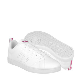 zapatillas adidas mujer blanca y rosa