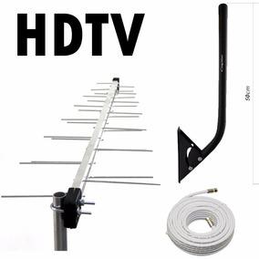 Kit Antena Externa Digital 16element+mastro+cabo 20m -1.0.1