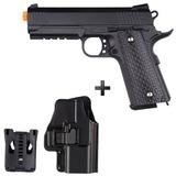 Kit Pistola Airsoft Galaxy G25 Colt 1911 Full Metal C Coldre