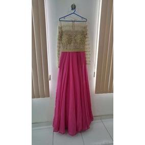 Vestido De Festa Pink (rosa) + Dourado! Atelier Bárbara Melo