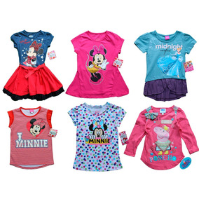 Lote 50 Blusas Playeras Disney Princesas Pepa Pig Mimi