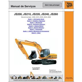 Manual Português Jcb: Js200, Js210, Js220, Js240, Js260